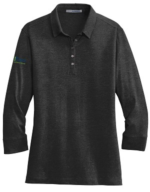 Ladies 3/4-Sleeve Meridian Cotton Blend Polo